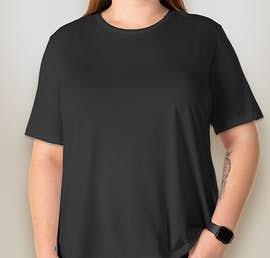 Bella + Canvas Ladies Tri-Blend T-shirt - Color: Charcoal Black Tri-Blend