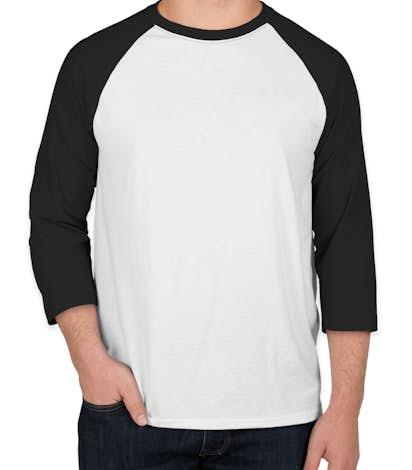 Hanes X-Temp Baseball Raglan - White / Black