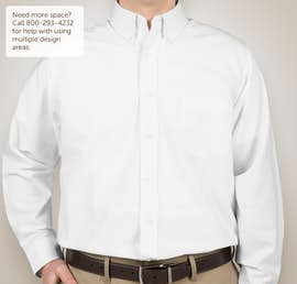 Ultra Club Wrinkle-Free Oxford Dress Shirt - Color: White