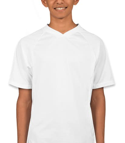 Augusta Youth Colorblock Performance Soccer Jersey - White