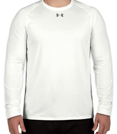 Under Armour Long Sleeve Locker Performance Shirt - White