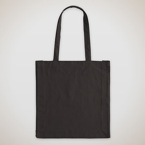Tall Gusseted 100% Cotton Shopper Tote - Black