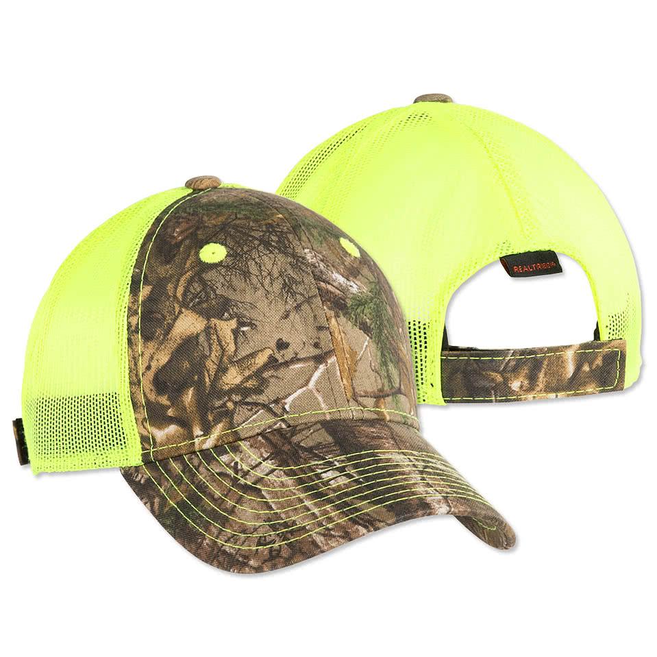 neon green under armour hat