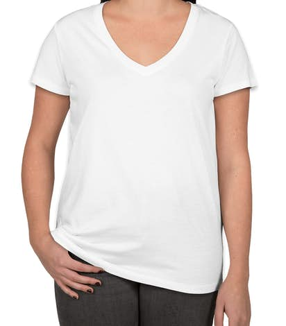 Alternative Apparel Ladies Relaxed V-Neck T-shirt - White