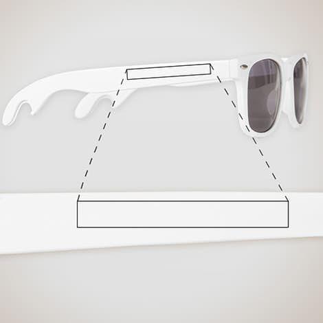 Malibu Bottle Opener Sunglasses - White
