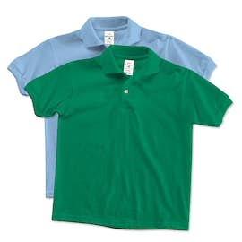 Hanes Youth 50/50 Jersey Polo