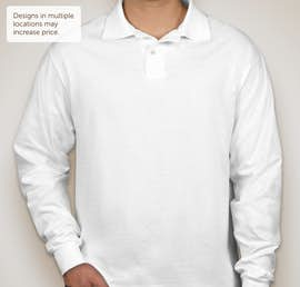 Jerzees Spotshield 50/50 Long Sleeve Jersey Polo - Color: White