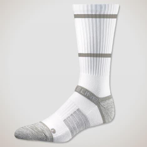Premium Compression Crew Socks - White