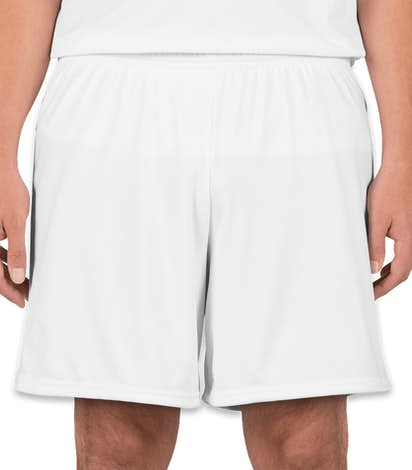 High Five Contrast Performance Soccer Shorts - White / White