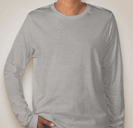 Canvas Tri-Blend Long Sleeve T-shirt - Color: Athletic Grey Tri-Blend