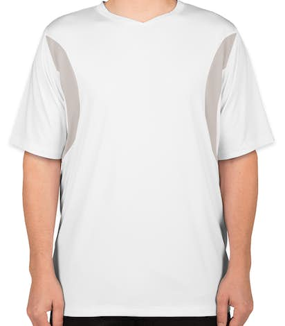 Team 365 Colorblock Performance Jersey - White / Sport Silver