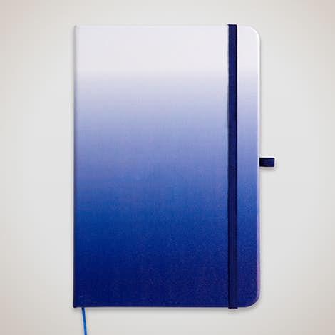 Medium Ombre Hard Cover Notebook - Blue