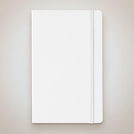 Moleskine Hard Cover Notebook - White