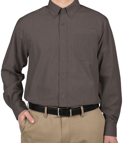 Port Authority Crosshatch Dress Shirt - Soft Black