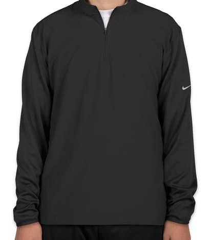 Nike Golf Dri-FIT Lightweight Quarter Zip Pullover - Black / Black