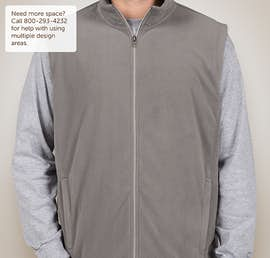 Port Authority Microfleece Vest - Color: Pearl Grey