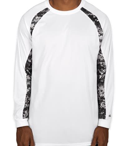 Custom Badger Digital Camo Long Sleeve Performance Shirt