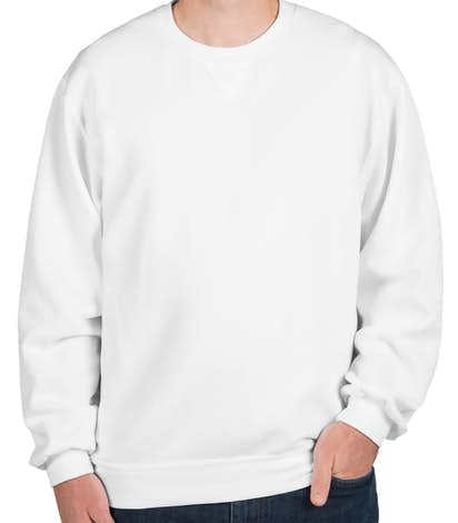 Fruit of the Loom Soft Spun Crewneck Sweatshirt - White