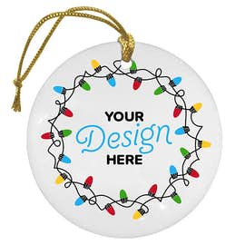 Full Color Round Ceramic Ornament