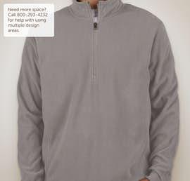 Port Authority Quarter Zip Microfleece Pullover - Color: Pearl Grey