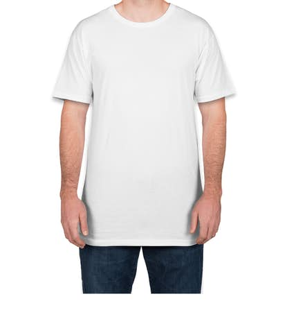 Canvas Urban Longer Length T-shirt - White