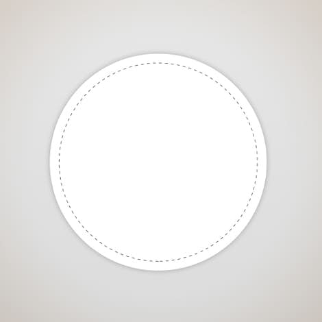 Full Color 3 in. Circle Vinyl Decal - White