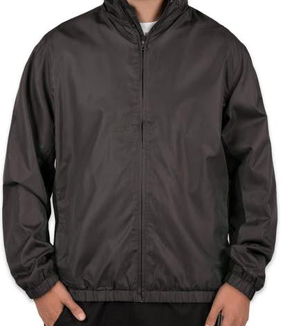Port Authority Core Colorblock Full Zip Jacket - Battleship Grey / Black