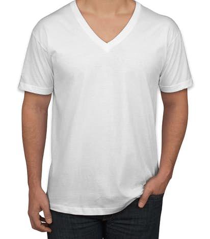 Design custom printed american apparel jersey v neck t for White t shirt v neck