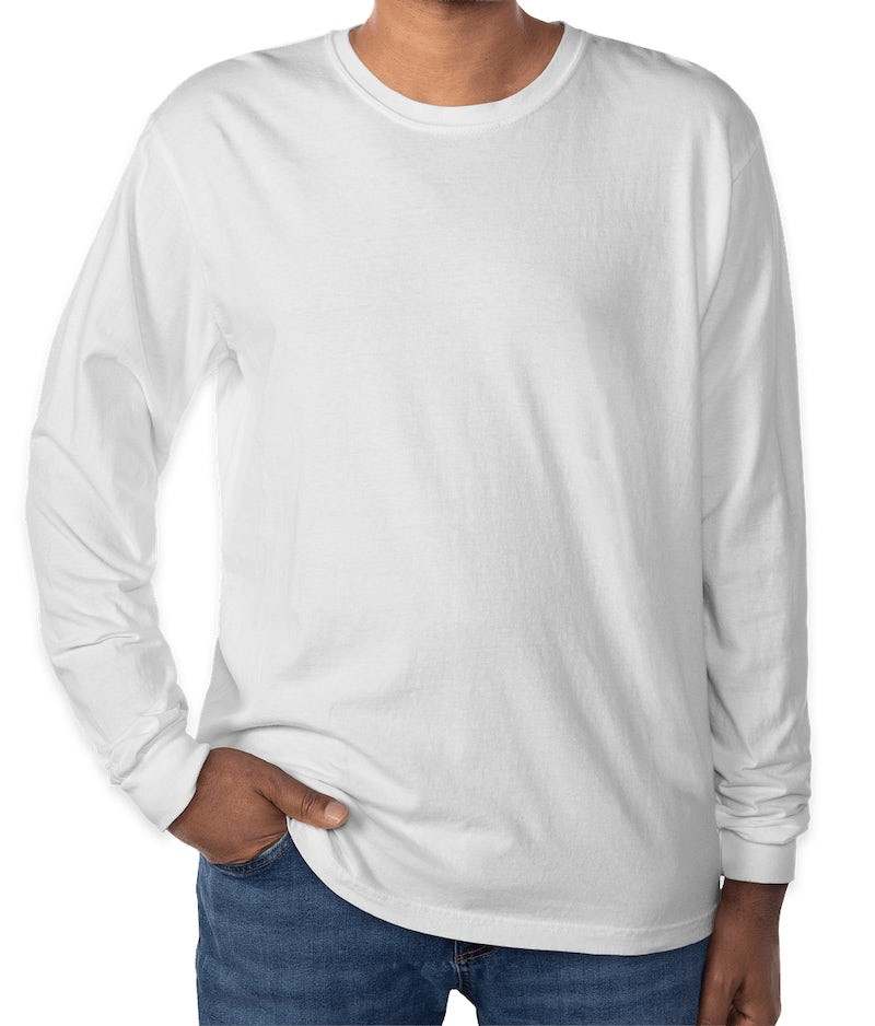 Custom Comfort Colors 100% Cotton Long Sleeve Shirt ...