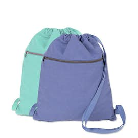 Midweight Pigment Dyed Canvas Drawstring Bag