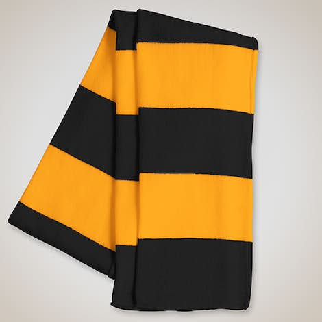 Sportsman Rugby Knit Scarf - Black / Gold