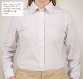 Devon & Jones Ladies Gingham Dress Shirt - Color: Silver