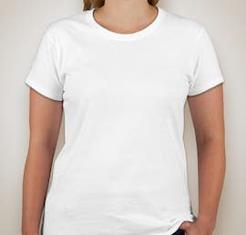 Gildan Ladies 100% Cotton T-shirt - Color: White
