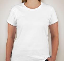 Gildan Ladies 100% Cotton T-shirt - Color: White