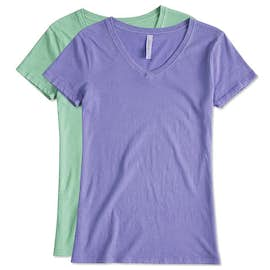 Threadfast Juniors Lightweight V-Neck Pigment Dyed T-shirt