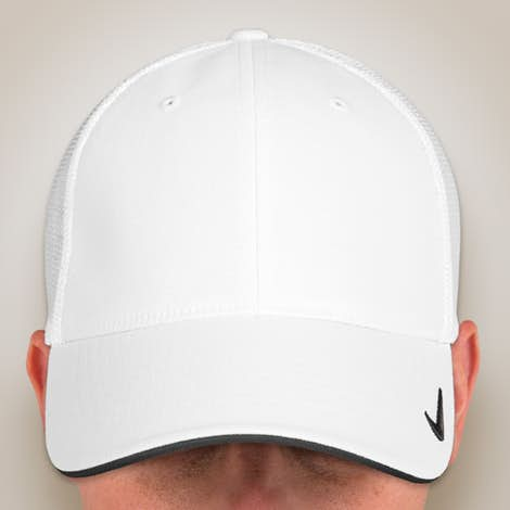 Nike Golf Stretch Fit Mesh Hat - White / White