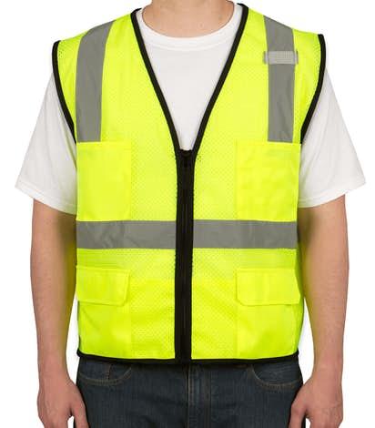 ML Kishigo Class 2 Safety 6 Pocket Mesh Vest - Lime