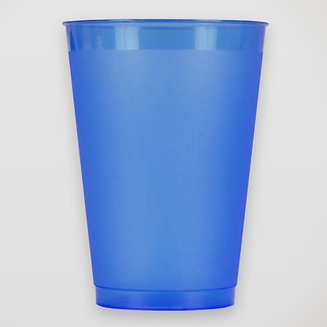 12 oz. Frosted Plastic Stadium Cup - Frost Blue