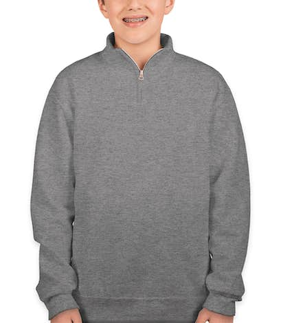 Jerzees Youth Lightweight Quarter Zip Sweatshirt - Oxford