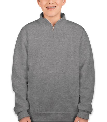 Jerzees Youth Lightweight Quarter Zip Sweatshirt - Oxford