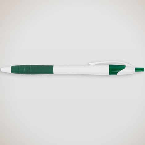 Javelin Rubber Grip Pen (black ink) - White / Green