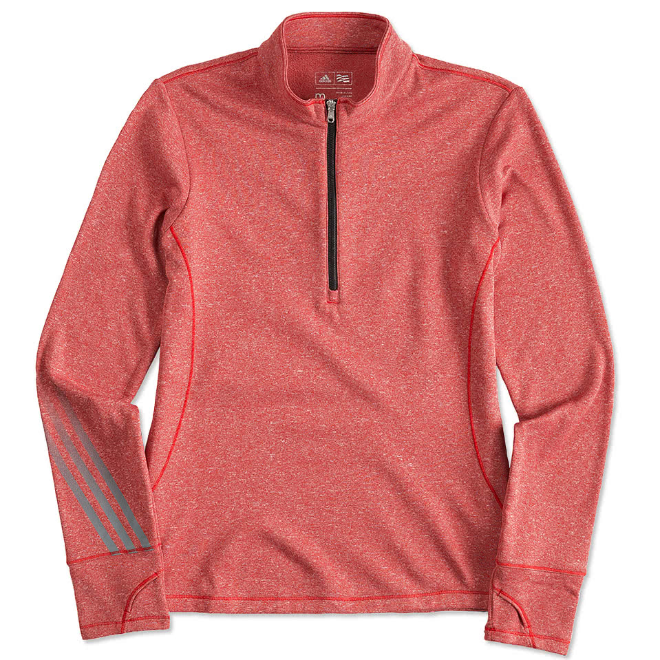 adidas quarter zip. adidas golf ladies brushed heather quarter zip pullover