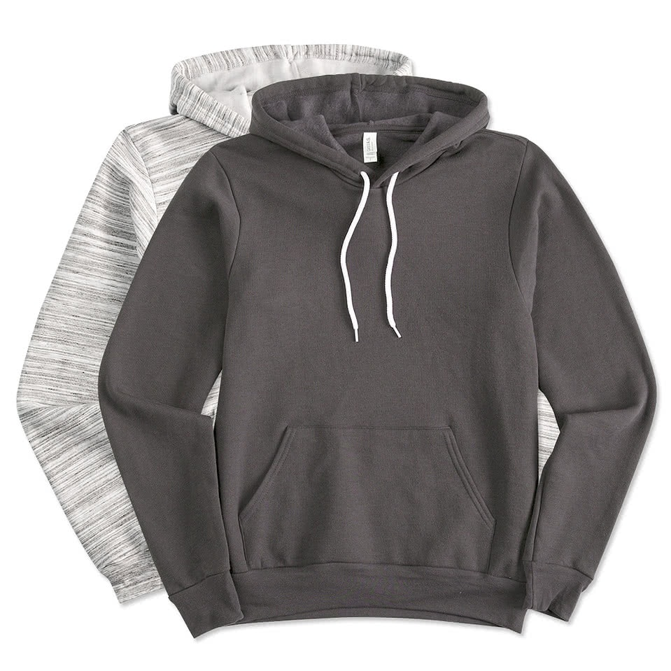 Design Custom Printed Canvas 60/40 Ultra Soft Hooded Sweatshirts ...
