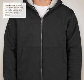 CornerStone DWR Heavyweight Sherpa-Lined Hooded Work Jacket - Color: Black