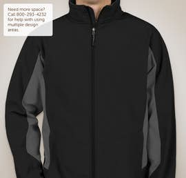 Port Authority Colorblock Soft Shell Jacket - Color: Black / Battleship Grey