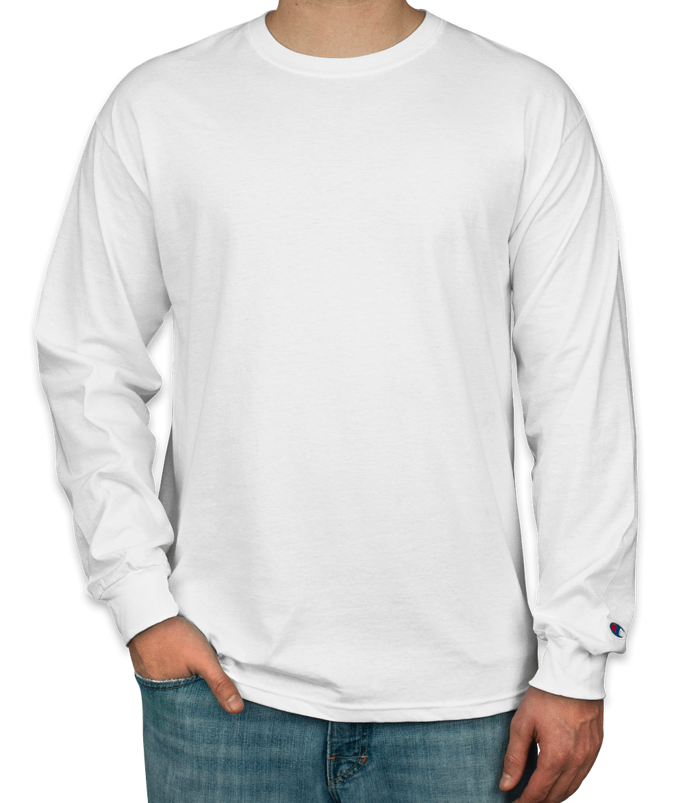 Design Custom Printed Champion Tagless Long Sleeve T-Shirts Online ...