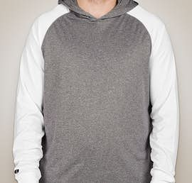 Holloway Ultra Lightweight Hooded Performance Shirt - Color: Graphite Heather / White