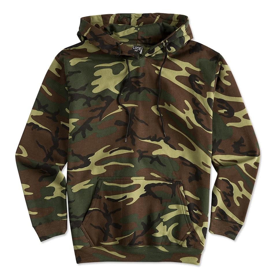 Custom Canada - Code 5 Camo Pullover Hoodie - Design Sweats Online ...
