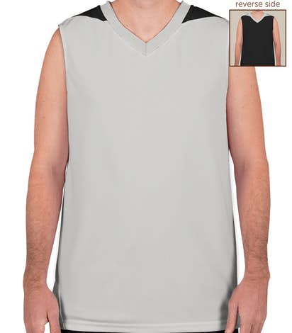 Teamwork Turnaround Reversible Basketball Jersey - Silver / Black