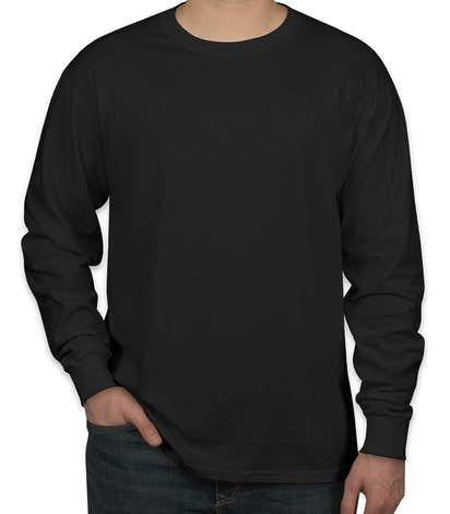 Canada - Jerzees 100% Cotton Long Sleeve T-shirt - Black
